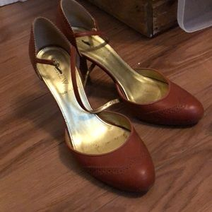 Jcrew brown heels